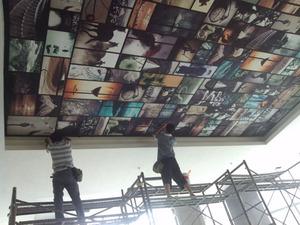 喷绘公司-- 墙纸喷绘